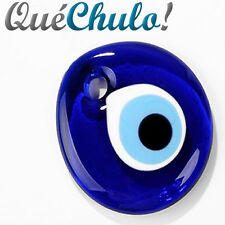 COLGANTE OJO TURCO CRISTAL MURANO 5 CM. - BLUE GLASS TURKISH EVIL EYE CHARM 2''