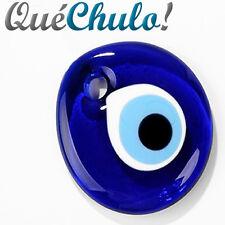 COLGANTE OJO TURCO CRISTAL MURANO 5 CM. - BLUE GLASS TURKISH EVIL EYE CHARM 2''