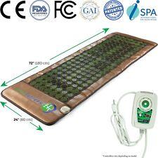 HealthyLine Jade Tourmaline Heating Mat Spa Yoga Heat Therapy FIR Neg Ions Pad