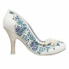 Irregular Choice Pearly Girly White Blue High Heel Wedding Prom Party Shoes