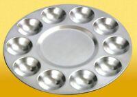 JAKAR Artist Mixing Paint Palette Aluminium Circular 10 Well - Round 17cm - 6615