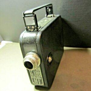 CINE KODAK MODEL 25 f 2.7 13 MM LENS WITH LEATHER CASE WORKS 1930s camera
