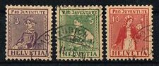 Schweiz 1917 Michel 133 - 135 Pro Juventute gestempelt