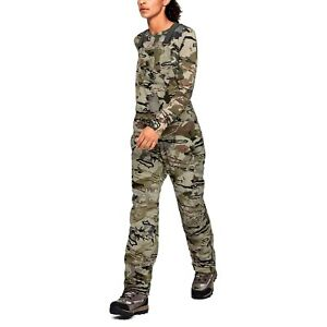 NEW M Under Armour Storm Camo Hunt Bib Women Grit Mid Season Kit 1344583-999 180