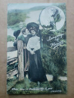 White Rose Language Of Flowers Vintage J W S Postcard 1905
