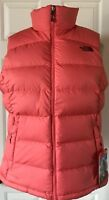 NWT Womens The North Face Nuptse 2 Puffer Vest 700 Fill Down Spiced Coral S M L