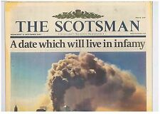The Week the World Changed Original Scotsman 12 September 2001 Twin Towers 9/11
