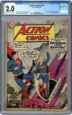 Action Comics #252 CGC 2.0 1959 3785260002 1st app. Supergirl