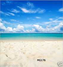 Beach Vinyl Studio Backdrop Photography Props Photo Background SEA 5x7ft MG176