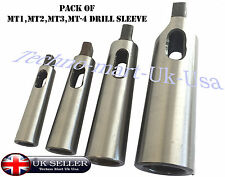 MT1 MT2 MT3 MT4 Morse Taper Reducing Adapter Drill Sleeve for Lathe Milling @ UK
