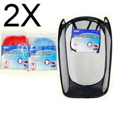 2X Large Pop Up Foldable Laundry Basket Mesh Hamper Washing Clothes Storage Bag