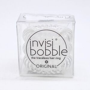 invisibobble Original Hair Tie 3 Pack - Crystal Clear NEW Damaged Box #1082