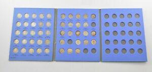 46 Coins Roosevelt Dimes Silver US Coin Set Collection Lot Album *893