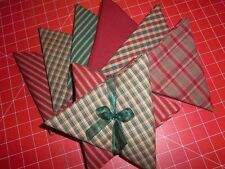 """""""Christmas Holiday"""" Set of 5 Fat Quarters FQ Dunroven House Homespun Fabric"""