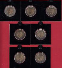 Paesi Bassi 2 euro 1999 a 2005-Lot corso monete Banca freschi