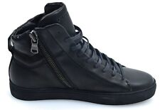 Crime London high sneakers leather black 11804A17