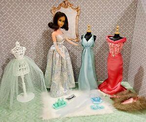 Vintage TNT Marlo Flip Barbie Doll Clothes & Accessories Lot