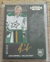 2013-14 Panini Contenders Jack Campbell Rookie Patch Auto 4 Color Toronto 29/100