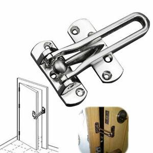 Home Hotel Door Stainless Steel Lock Security Guard Buckle Clasp Padlock Latch