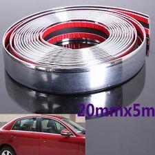20MM x 5M Roll Chrome Car Styling Moulding Strip Trim Adhesive Crash Protecter