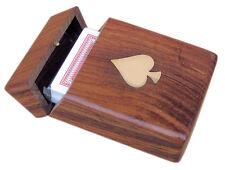 Spielkarten Box mit Klappdeckel, Spielkarten und Messingeinlagen - sc-9145