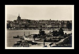 DR JIM STAMPS CITY LAKE GENEVA SWITZERLAND REAL PHOTO RPPC VIEW POSTCARD