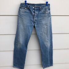 Vtg Levi's 501 Button Fly jeans men's tag 34 x 32 measures 32 x 31 USA Made