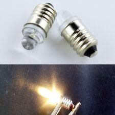 4pcs E10 Led Flashlight Replacement Bulb Torch Lamp Light Warm White 3V 20LM