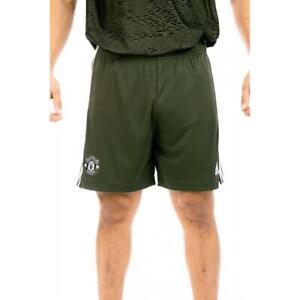 ADIDAS Mens Manchester United 2020/2021 Away Shorts (Green)