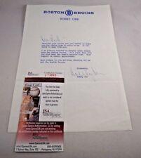 Bobby Orr Signed Letter on Boston Bruins Stationary JSA Certificate