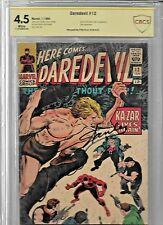 Daredevil (1964 1st Series) #12 VG+ 4.5 SIGNED BY STAN LEE CBCS