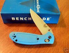 BENCHMADE New Blue Mini Griptilian Plain Edge 154CM Blade Knife/Knives