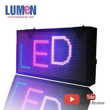 "9"" X 17"" LED Sign RGB 7 Color Programmable Scrolling Indoor Moving Display P6"