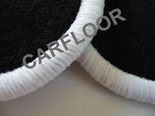 Fiat Palio Weekend Bj. ab 01.98 Fußmatten Velours schwarz mit Rand weiß