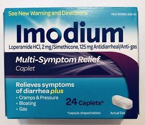 Imodium Anti-Diarrheal/Anti-Gas HCI 2mg 24 Caplets,Multi-Symptom Relief