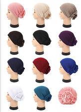 Muslim Women Stretch Inner Cap Islamic Flower Scarf Hijab Amira Hats Hijab 12PCS