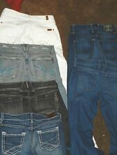 JEANS LOT DESIGNER WHOLESALE-  SIZE 29W 30W MISS ME LUCKY BRAND BKE by ROCK REVI