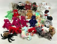 Vintage 1990s 1994-1999 Ty Beanie Babies Plush Bears Collectible Toys Lot of 24