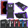 Heavy Duty Rugged Hybrid Shockproof Case Kickstand Dual Layer Tough Armor Cover