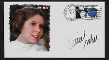 Carrie Fisher Autograph Reprint Featured on Ltd Edt Collector Envelope *A1048