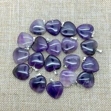Fashion Natural Stone Amethyst Heart Pendulum Charm Pendants 30pcs/lot Wholesale