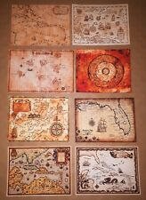 1/6 Scale Pirate Maps Set of 8 Pirates of the Caribbean Jack Sparrow Hot Toys