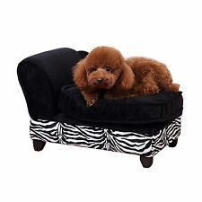 PawHut Luxury Pet Sofa Storage Dog Bed Chaise Lounge Puppy Cat Kitten Lounger