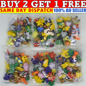 144 X Kids Gift Pokemon Pikachu Monster Collectible Action Figures Doll Set Toys