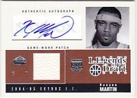 KENYON MARTIN 04-05 SKYBOX LIMITED LEGENDS OF THE DRAFT PATCH AUTO #20/25 BK4648