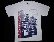 BACKTRACK Darker Half Size Small White T-Shirt