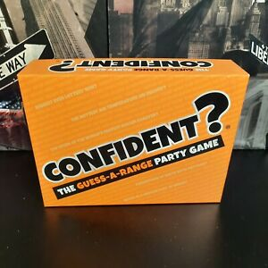 Confident? Board Game The Guess-a-Range Family Game 11+ Complete Very Good