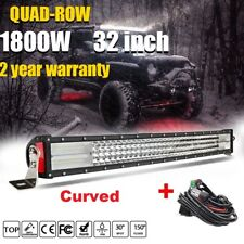Quad Row 32inch 3808W Curved LED Light Bar Spot Flood Offroad Driving 4WD ATV US