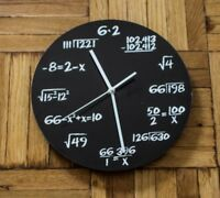 Decodyne Math Wall Clock - Unique Math Equations Perfect for Classroom or Home