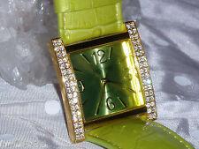 NIB JOAN RIVERS Lime Green Croco Watch Band Leather